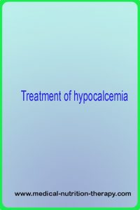 Treatment of hypocalcemia