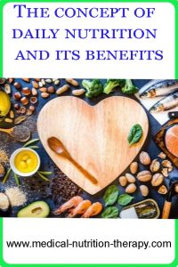 The concept of daily nutrition and its benefits