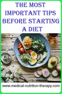 The most important tips before starting a diet