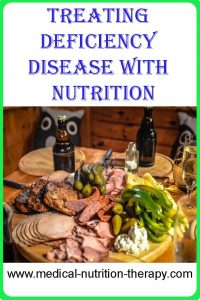 Treating deficiency disease with nutrition