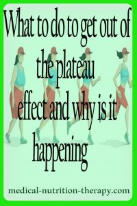 What to do to get out of the plateau effect and why is it happening