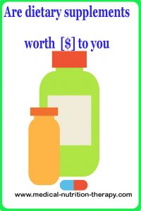 Are dietary supplements worth  [$] to you