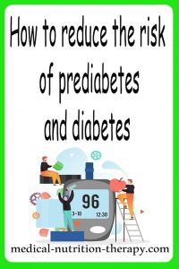 How to reduce the risk of prediabetes and diabetes?